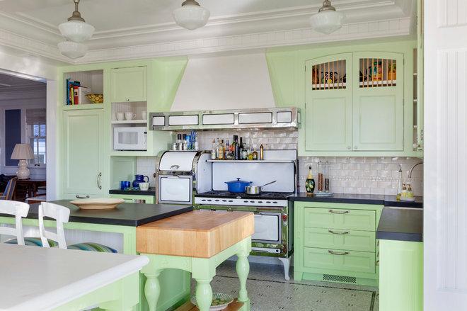 Beach Style Kitchen by Benson Interiors, Inc.