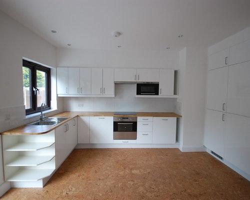 Grey Kitchen Design Ideas Renovations Photos With Cork Flooring