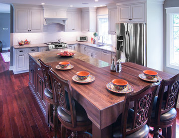 Upper Island Black Walnut Butcher Block Seating in West Chester PA