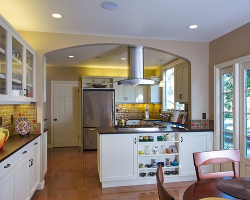 Stove in peninsula home design ideas pictures remodel - Kitchen peninsula with stove ...