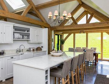 Upside Down Oak Frame House in Rural Cornwall