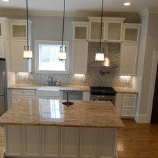 Transitional Kitchen by Maison de Luca Design, LLC