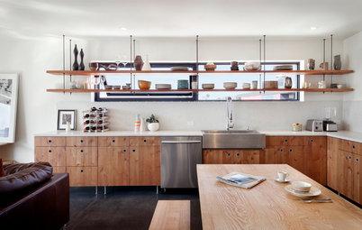 Ideas para dejar las estanterías a la vista en la cocina