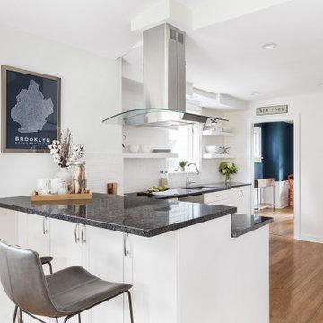 Urban Black & White Kitchen