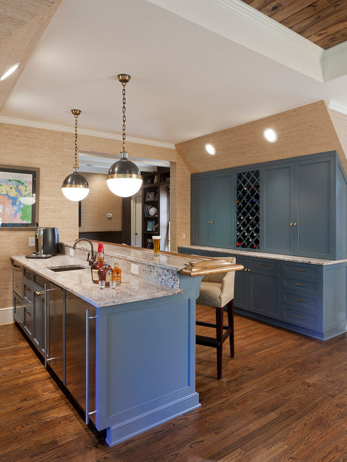 Wallpaper Kitchen Cabinet | Houzz