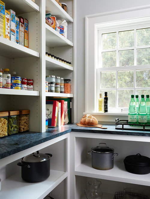 Best Kitchen Pantry with Laminate Countertops Design Ideas & Remodel Pictures | Houzz