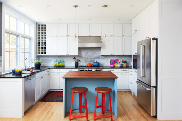 Transitional Kitchen by Lawlor Architects