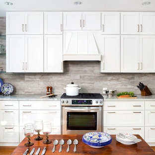 Transitional kitchen inspiration - Example of a transitional kitchen design in DC Metro