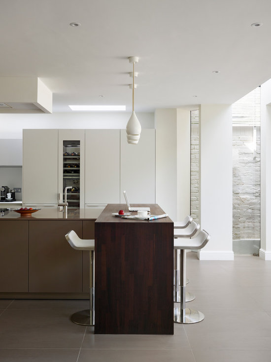 white and brown kitchen | houzz