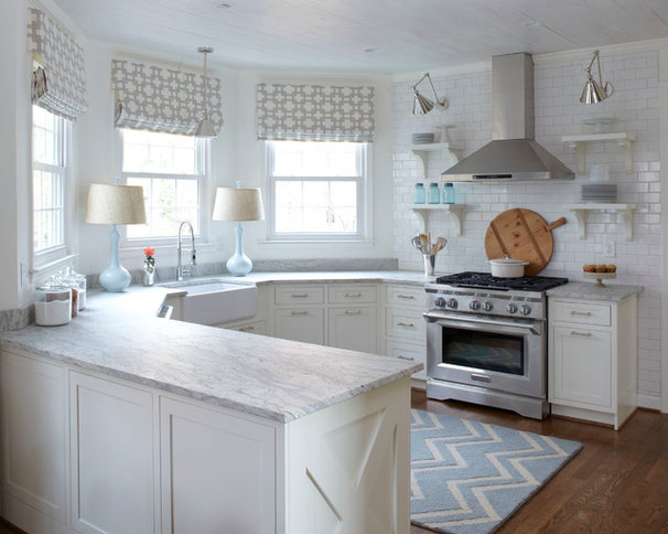 Transitional Kitchen by Lisa Gabrielson Design