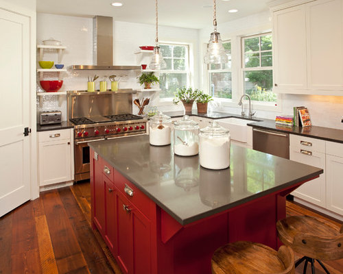 Urban farmhouse houzz for Urban farmhouse kitchen