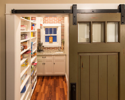 Pantry With Sliding Barn Door Ideas Pictures Remodel And