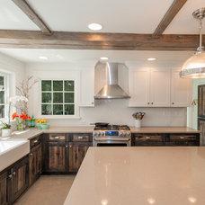 Farmhouse Kitchen by Habitations Interior Design