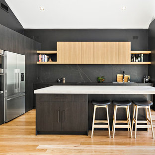 75 Most Popular Modern Kitchen With Black Splashback