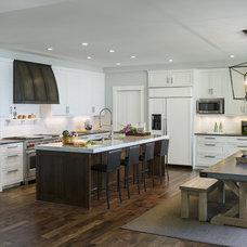 Transitional Kitchen by Charlie & Co. Design, Ltd