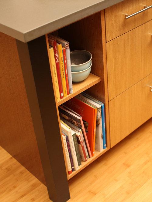 Cookbook Storage | Houzz