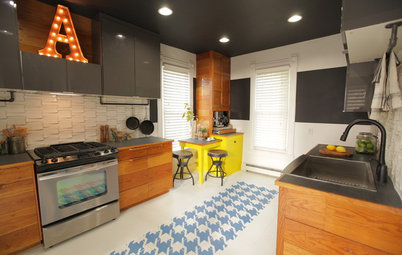 Mixing Vintage and Modern in an Urban Family Kitchen