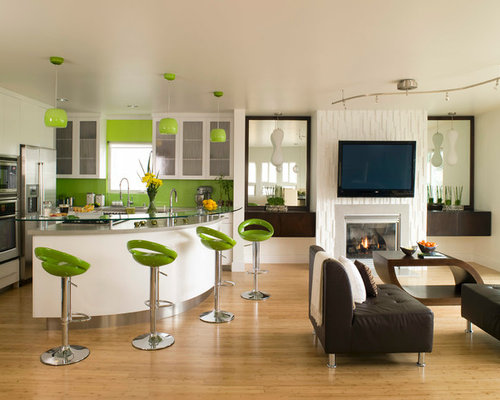 Contemporary Kitchen Photos   Example Of A Trendy Kitchen Design In Los  Angeles With Stainless Steel