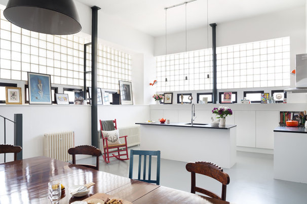 Kitchen Takes Off in a Former Aircraft Parts Factory