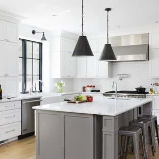 #urbanfarmhouse - Gray and White Kitchen
