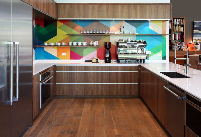 Contemporary Kitchen by Honea Woodworks