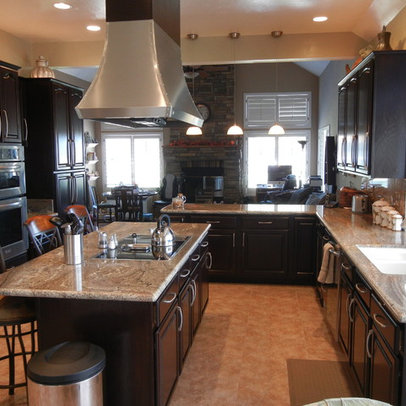 Stained Cabinets Home Design Ideas, Pictures, Remodel and Decor