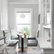 Transitional Kitchen by peachtree architects llc