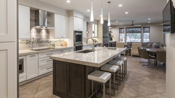 Val Vista Lakes Contemporary Kitchen and Family Room Remodel