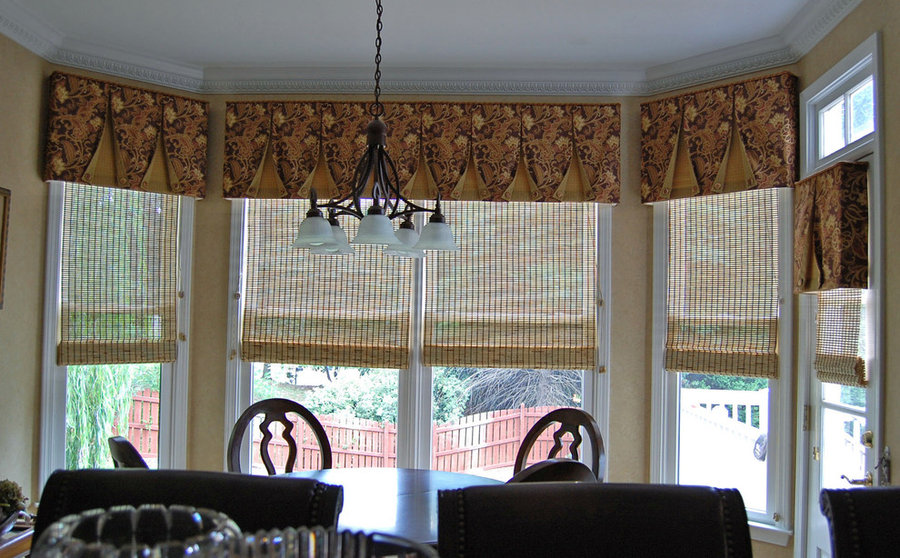 Valance and woven woods