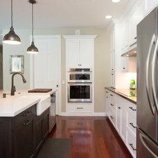Transitional Kitchen by Rachel Eve Design, Inc.