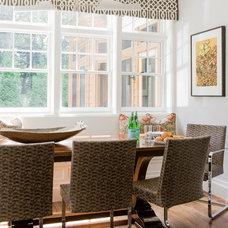 Transitional Kitchen by Jill Litner Kaplan Interiors