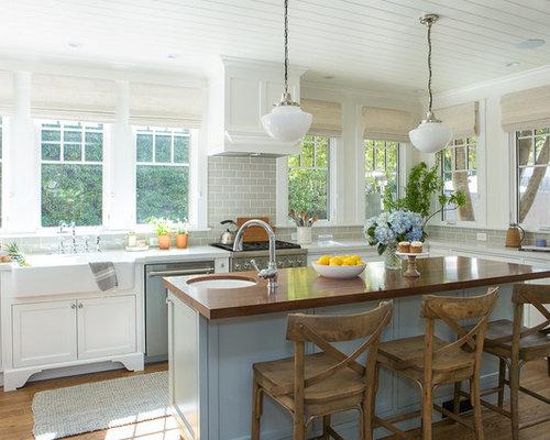 Cucina abitabile al mare di medie dimensioni foto e idee per