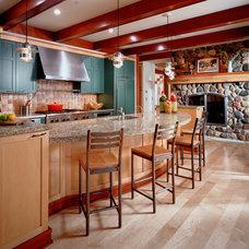 Eclectic Kitchen by Vujovich Design Build, Inc.