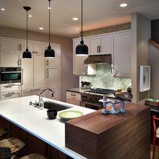 Transitional Kitchen by Vault Interiors & Design, LLC