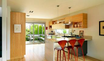 Vancouver Residence II dining peninsula + kitchen
