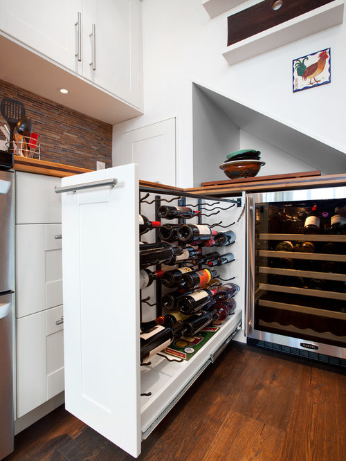 Wine storage cabinet houzz for Built in wine racks for kitchen cabinets