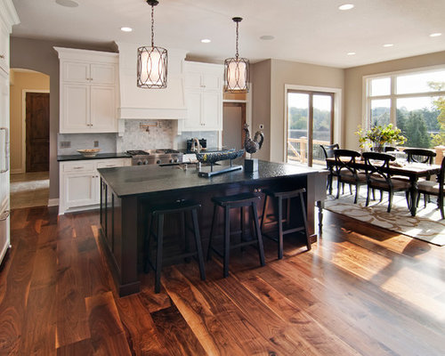 Inspiration For A Transitional Eat In Kitchen Remodel In Minneapolis With Recessed Panel Cabinets
