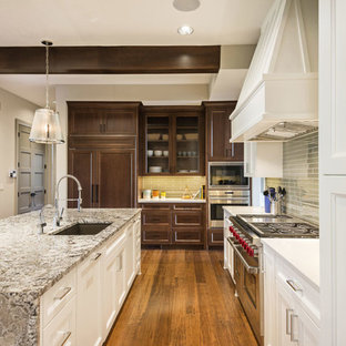 Transitional kitchen ideas - Example of a transitional kitchen design in New York