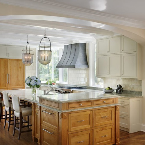 Elegant L Shaped Solid Wood Kitchen Cabinets Latest: Best Kitchen With An Island Design Ideas & Remodel