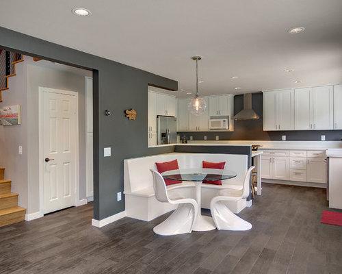 k chen mit laminat arbeitsplatte und landhaussp le ideen bilder houzz. Black Bedroom Furniture Sets. Home Design Ideas