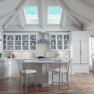 Example of a trendy kitchen design in Charlotte