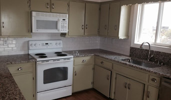 Venetian Ice Granite Counter tops and 3x6 white ceramic subway tile with under m