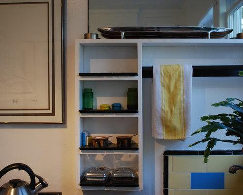 Foton och inspiration för maritima kök och matrum, med linoleumgolv