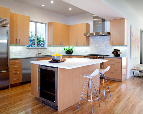 contemporary kitchen idea in los angeles with stainless steel appliances