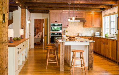 New This Week: Rustic Wood Beams Wow in 4 Kitchens