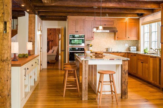 Farmhouse Kitchen by Gilberte Interiors, inc