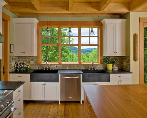Beautiful Open Concept Kitchen   Large Traditional Medium Tone Wood Floor Open  Concept Kitchen Idea In Burlington