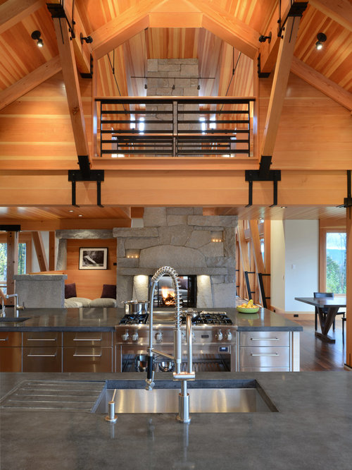30 Trendy Rustic Kitchen with Stainless Steel Cabinets Design Ideas