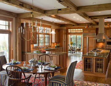 Vermont Mountain View Traditional Kitchen