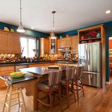 Traditional Kitchen by Susan Jablon Mosaics